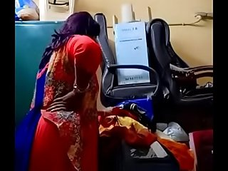 Swathi naidu exchanging saree by in like manner boobs,body parts and getting ready for luggage part5