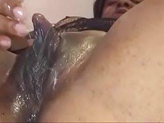Mature Indian with big clit masturbating