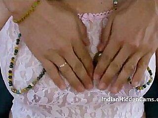Desi Bhabhi Breast Massage By Self - IndianHiddenCams.com