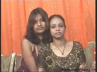 Desi Horny Indian Girl Khushi Enjoy Lesbian Sex hither Girl Friend